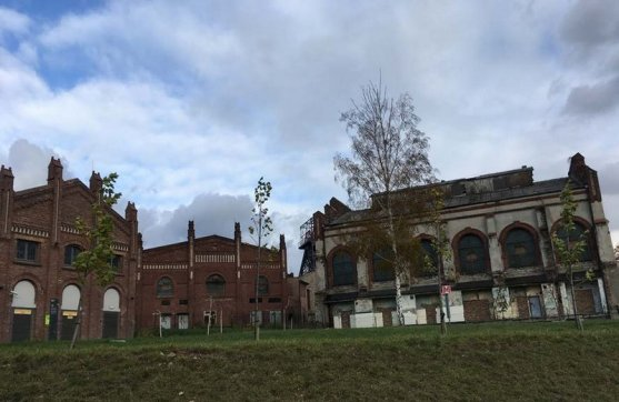 Derelict mining buildings near Silesian Museum. Photo credit Alex Roberts.