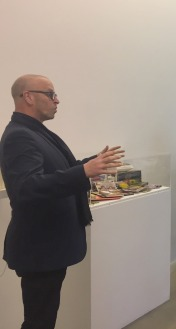 Donald Smith (Head of MA Curating and Collections programme) talks about Chelsea Space, at Chelsea College of Arts, London. Photo credit Kelise Franclemont.