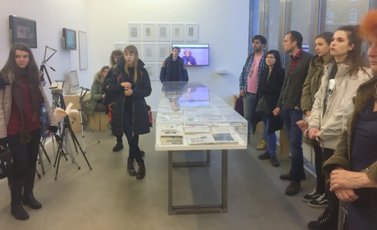 Having a look at Chelsea Space at Chelsea College of Arts, London. Photo credit Kelise Franclemont.