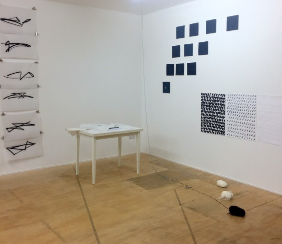 Jonathan Slaughter, Izabela Łęska, and Sybilla Skałuba, installation view, at Ply Gallery, Hornsey Town Hall, London. Photo credit Kelise Franclemont.