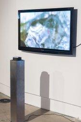 Wojtek Kazimierczak, 'Azimuth', 2016/17, digital film and illuminated lens, in 'Connect: Katowice and London' at Rondo Sztuki Gallery, Katowice, Poland. Image courtesy Rondo Gallery and Connect: Art Projects. Photo credit Michał Jędrzejowski.
