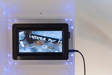 Adam Zoltowski, untitled, 2017, digital video, in 'Connect: Katowice and London' at Rondo Sztuki Gallery, Katowice, Poland. Image courtesy Rondo Gallery and Connect: Art Projects. Photo credit Michał Jędrzejowski.